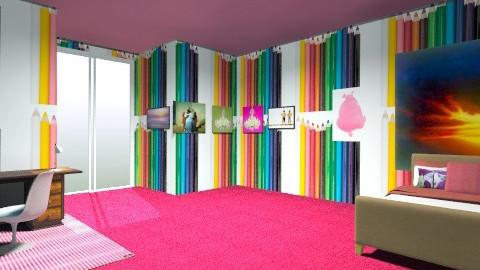 art room - Eclectic - Bedroom  - by maleigha__01