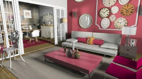 time room - Retro - Living room  - by Cejovic Andrijana