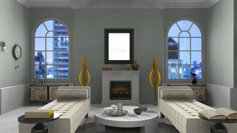 Art Deco Living Room - Classic - Living room  - by johannaviola87