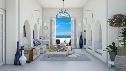 Greek Island Living Room - Living room - by ayudewi