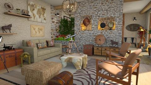 travel theme living room - Living room  - by Moonpearl