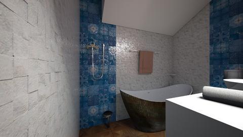 big bathroom without marb - Classic - Bathroom  - by sancharib