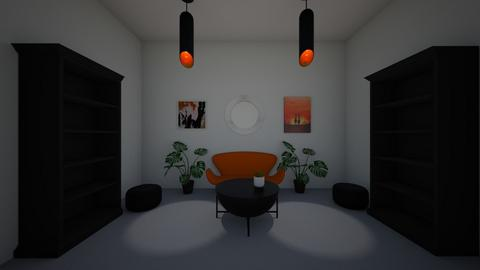 Orange and black Snug - Modern - Living room  - by riordan simpson