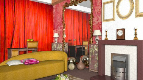 Tanimbar & wallpaper - Vintage - Living room  - by mrschicken