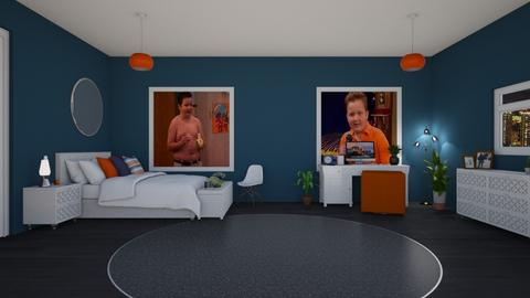 Gibby Room - Retro - Bedroom  - by Drama Llama