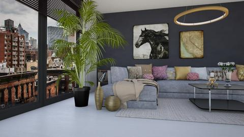 Shades od grey - Modern - Living room - by Nina Colin