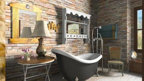Vintage  bathroom - Vintage - Bathroom  - by milyca8