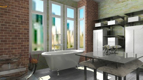 modern rustic bath - Modern - Bathroom  - by BriaFaith