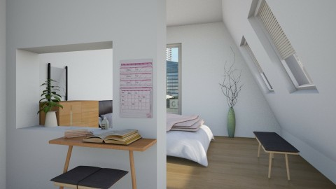 attic apt - Minimal - Bedroom  - by laughterlines
