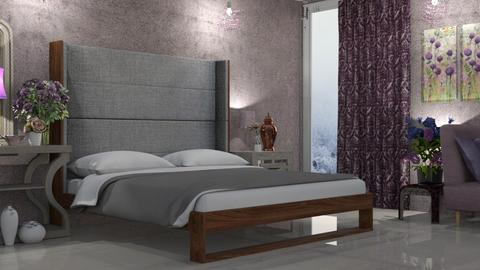 Purple and Pink - Eclectic - Bedroom  - by LuzMa HL