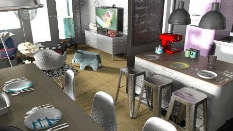 banjavciceva kdbbl2hrast - Eclectic - Kitchen  - by tatjana_novak