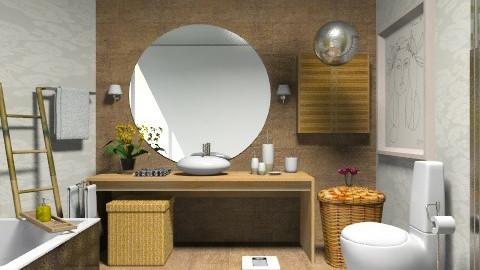 Bath as a Room  - Rustic - Bathroom - by sahfs