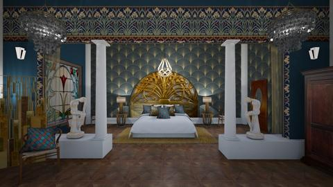 Matilda's art nouveau bedroom - by Matilda de Dappere