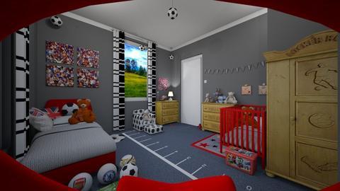 soccer kid - Bedroom  - by Karen Priest