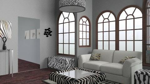 Zebra Rox!!!!!!!!! - Retro - Living room  - by 89dudes
