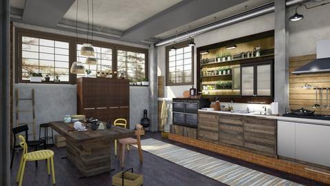 Industrial Kitchen - by ZsuzsannaCs
