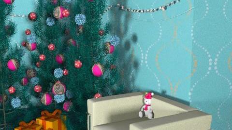 Christmas retro chic - Retro - Living room  - by iviebug