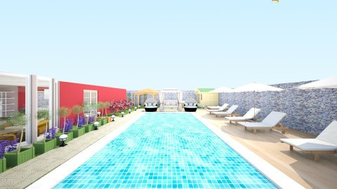 Swimming pool area - Glamour - Garden  - by Mah003
