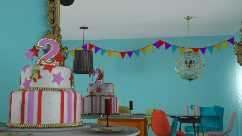 birthday fun - Dining Room  - by jenrooms
