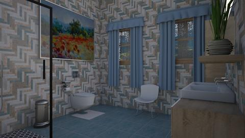 Sapphire Guest Bath - Modern - Bathroom  - by alonatech_2nd