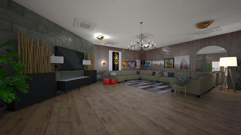 wooden room  - Living room  - by _friedmomo_