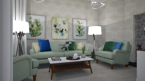 Sweet Green Room - Living room  - by LpkInteriorDesignsSwe