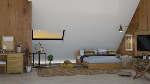 Sloping ceiling - Bedroom  - by nat mi