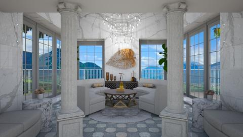 Chandelier and columns - Living room  - by Nicky West