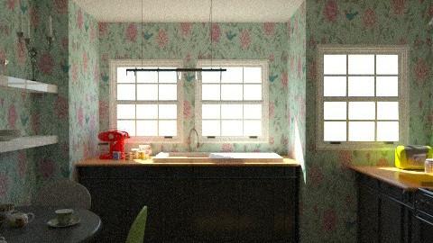 Kitsch Kitchen - Eclectic - Kitchen  - by xoxfranklinxox