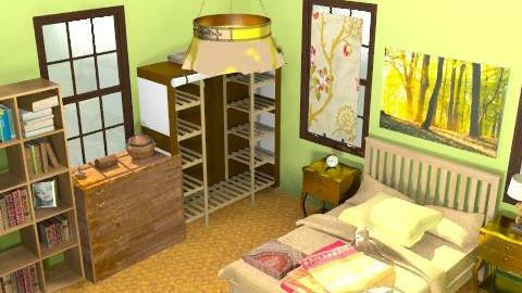 green room - Rustic - Bedroom  - by ATELOIV87