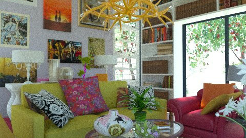 A Twist of Zing 5 - Eclectic - Living room  - by Patrick Mallaley