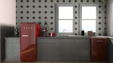 retrokitchen - Retro - Kitchen  - by vintageIndie