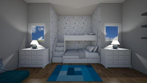 Blue Ocean Water Bedroom - Bedroom  - by Design3690