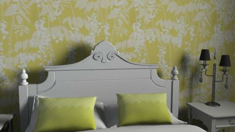 yellow and black  - Feminine - Bedroom - by holliday92