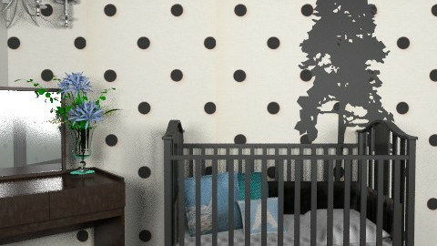 Polka-Dot Nursery - Modern - Kids room  - by kishwick