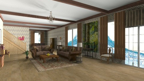 Swiss Alps - Country - Living room  - by GALE88