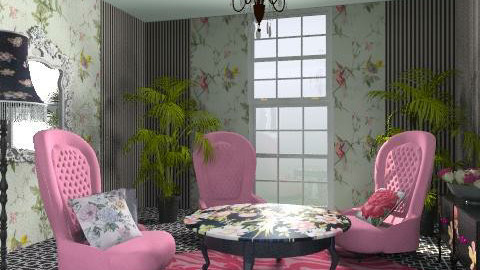 pink tea - Vintage - Living room  - by chania
