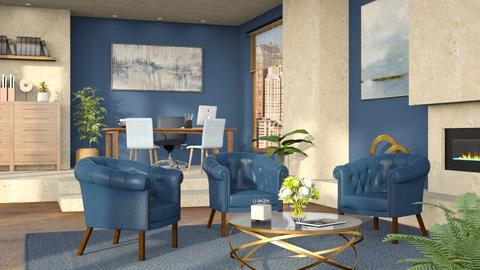 azul - Vintage - Living room  - by olivergraccobc