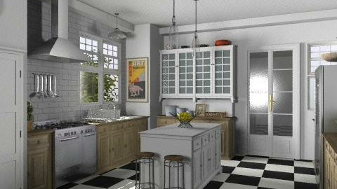 Newport Beach Kitchen - Vintage - Kitchen  - by LizyD