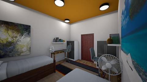 dorm room - Classic - Bedroom  - by manushri