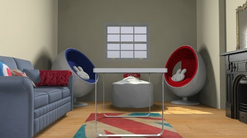 Modern Vintage Living Room - Retro - Living room  - by Flora079