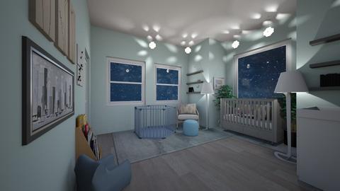 Baby Blue Nursery  - Kids room  - by Hersheys