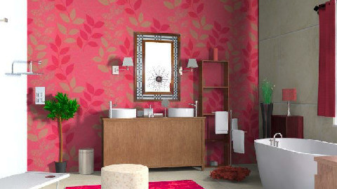 red hot bathroom - Glamour - Bathroom - by sweetd