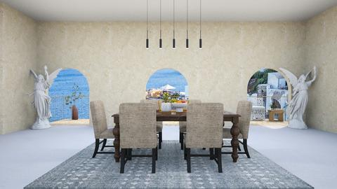 Greek dinning - Dining room  - by Wensday