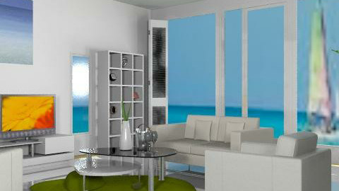 white house beach - Glamour - Living room  - by leendave