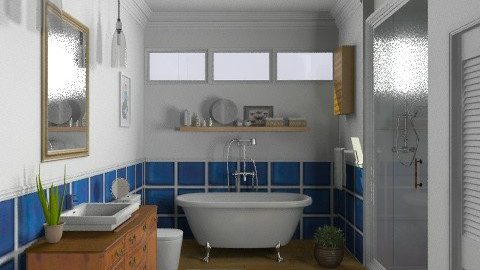 Random Spaces - Craftsman Bathroom - Vintage - Bathroom  - by LizyD