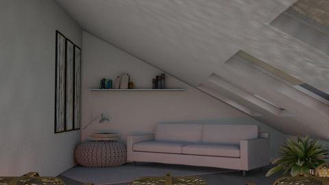 Attic Living - Minimal - Living room  - by kaede11