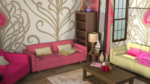 Raspberry Elegance - Classic - Living room  - by HazelMP