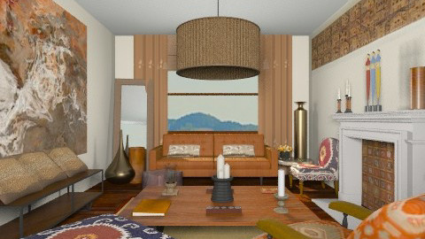 Shades of Brown - Eclectic - Living room - by camilla_saurus