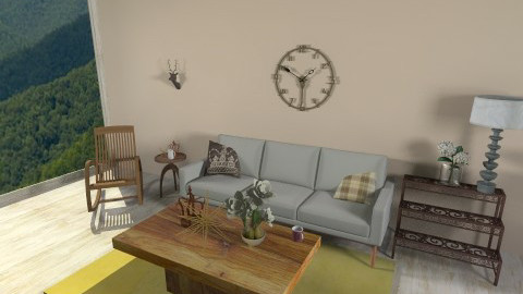rusty - Rustic - Living room  - by mobeach